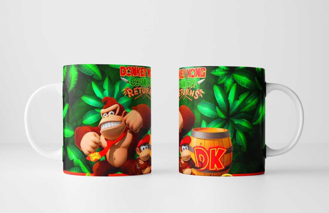 Caneca Gamer Donkey Kong - Sua Caricatura em um Presente Personalizado Incrível!