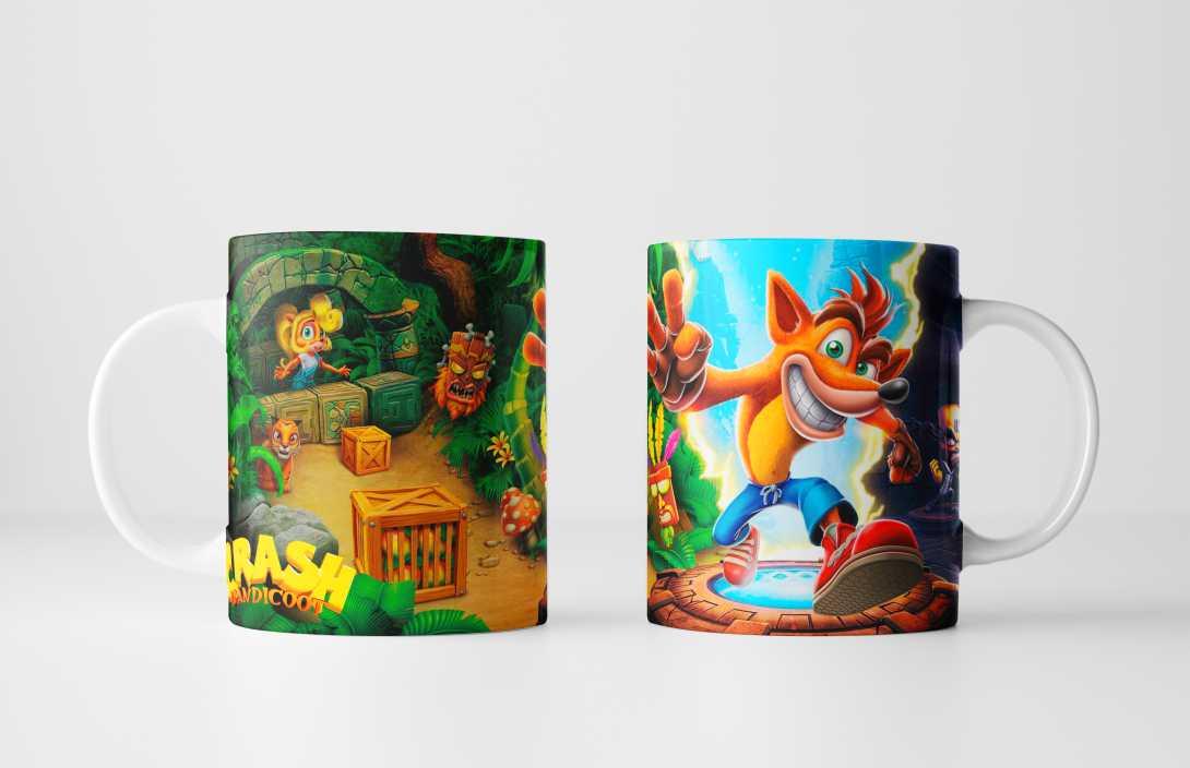 Caneca Gamer Crash Bandicoot - Sua Caricatura em um Presente Personalizado Incrível!