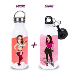 Kit Academia 01 - Garrafas 600ml + 500ml